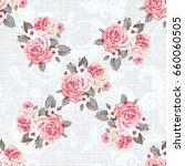 seamless floral pattern with... | Shutterstock .eps vector #660060505
