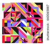 trendy geometric elements...   Shutterstock .eps vector #660065887