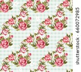 seamless floral pattern with... | Shutterstock .eps vector #660072985