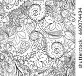 tracery seamless pattern.... | Shutterstock .eps vector #660074434