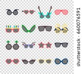 party colorful sunglasses icon... | Shutterstock .eps vector #660076591