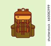 backpack vector line...   Shutterstock .eps vector #660082999