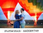 beautiful romantic couple... | Shutterstock . vector #660089749