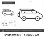 wagon car vector line icon... | Shutterstock .eps vector #660092125