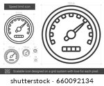 speed limit vector line icon... | Shutterstock .eps vector #660092134