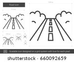 road vector line icon isolated... | Shutterstock .eps vector #660092659