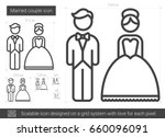 married couple vector line icon ... | Shutterstock .eps vector #660096091
