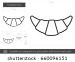 croissant vector line icon... | Shutterstock .eps vector #660096151