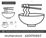noodle soup vector line icon... | Shutterstock .eps vector #660096865