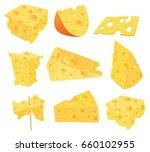 set of vector cartoon... | Shutterstock .eps vector #660102955