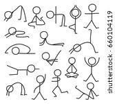 set of stick figure in... | Shutterstock .eps vector #660104119