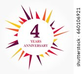 4 years anniversary logo... | Shutterstock .eps vector #660106921