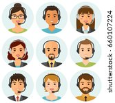 call center agents flat avatars ... | Shutterstock .eps vector #660107224