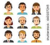 call center agents flat avatars ... | Shutterstock .eps vector #660107245
