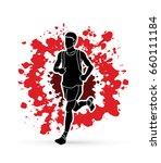 running man  sport man sprinter ...   Shutterstock .eps vector #660111184