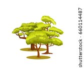 green forest icon. group of... | Shutterstock .eps vector #660114487