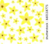vanilla flower vector seamless... | Shutterstock .eps vector #660118771
