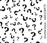 question mark seamless pattern .... | Shutterstock .eps vector #660118975
