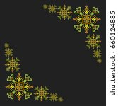 green ethnic motifs graphic...   Shutterstock .eps vector #660124885