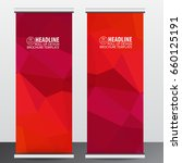 roll up business brochure flyer ... | Shutterstock .eps vector #660125191