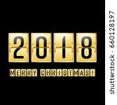 happy new year 2018. merry... | Shutterstock . vector #660128197