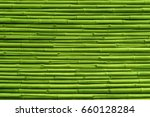 Green Bamboo Fence Background...