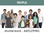 diversity of people generations ... | Shutterstock . vector #660129481