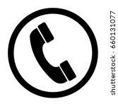 phone icon vector on white...