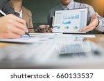 team work process. young... | Shutterstock . vector #660133537