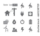 electric icons. | Shutterstock .eps vector #660138709