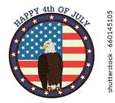 eagle bird in 4th of july happy ... | Shutterstock .eps vector #660145105
