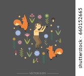hand drawn vector banner with...   Shutterstock .eps vector #660152665