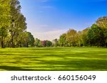 city park. panorama of a... | Shutterstock . vector #660156049