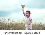 cute asian child playing toy... | Shutterstock . vector #660161815