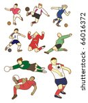 cartoon football player | Shutterstock .eps vector #66016372
