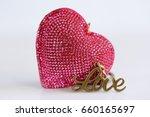 Glitter Heart Shape And Love...