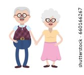 old couple with hairstyle and... | Shutterstock .eps vector #660166267
