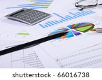 charts and graphs of sales   a...   Shutterstock . vector #66016738