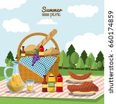 colorful poster of summer... | Shutterstock .eps vector #660174859