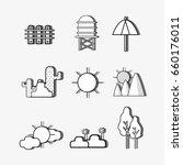 set natural lanscape things... | Shutterstock .eps vector #660176011