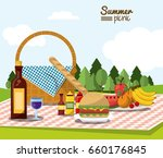colorful poster of summer... | Shutterstock .eps vector #660176845