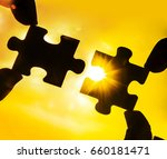 two hands trying to connect... | Shutterstock . vector #660181471