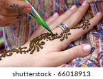 picture of human hand being... | Shutterstock . vector #66018913