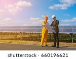 engineer team discussion and... | Shutterstock . vector #660196621