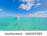 yachts on tropical island water ... | Shutterstock . vector #660205285