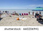 grand bend ontario  canada  ...   Shutterstock . vector #660206941