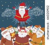 real santa | Shutterstock .eps vector #66020902