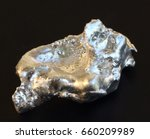 granules of pure silver each... | Shutterstock . vector #660209989