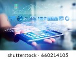 view of a trading forex data...   Shutterstock . vector #660214105