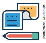 writing vector icon  | Shutterstock .eps vector #660214885